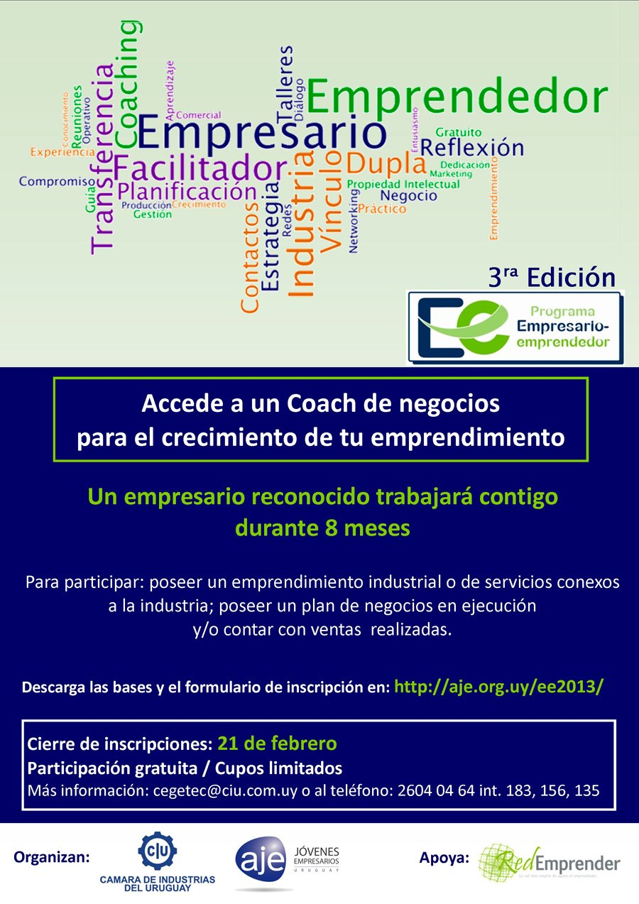 Afiche Empresario Emprendedor 2013