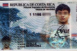 Cedula Costa Rica